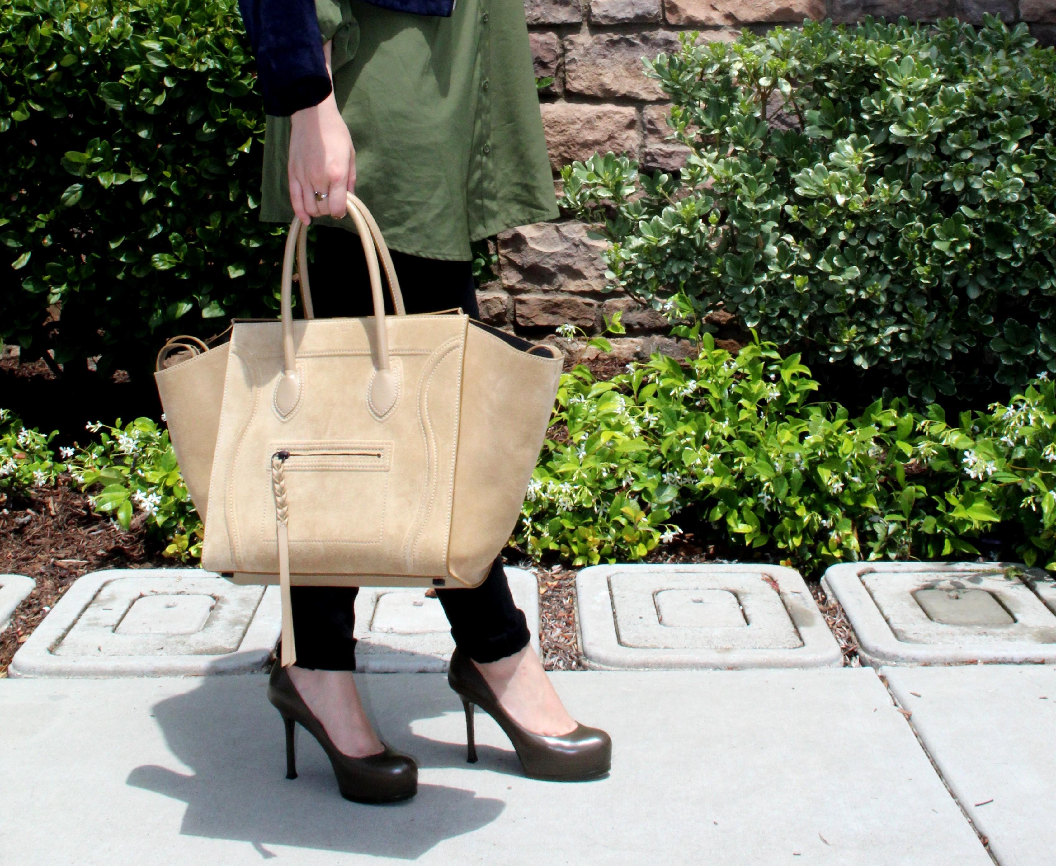 Celine Trapeze Beige Bag 607302